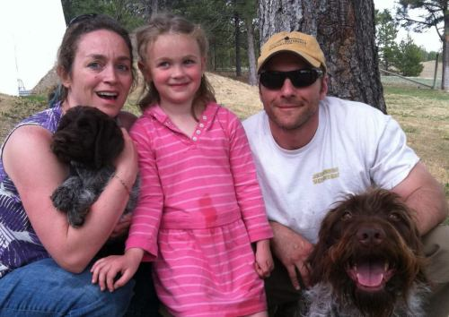 Lindsay, Frannie, Lou and the dogs