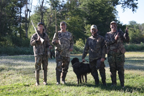 Luke, Frank, Charles and I with our teal