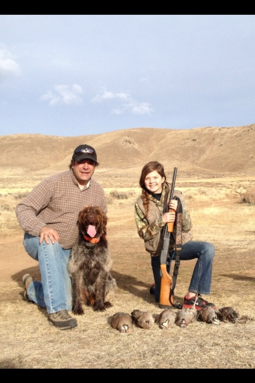 Pete, Whiskey, Andi and chukars in NV