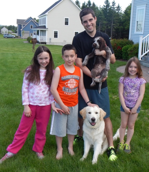 Hez (now Moose) and family in Maine