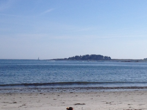 View from Crescent Beach State Park in Port Elizabeth, Maine