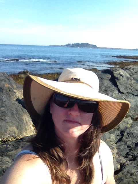 "Maine selfie: ""What the heck is up with all of these rocks?"""