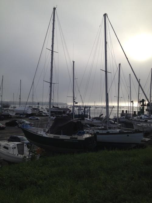 Rockland Harbor Tuesday morning