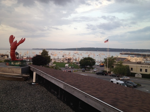 View of Rockland Harbor from the 5th floor of the Trade Winds