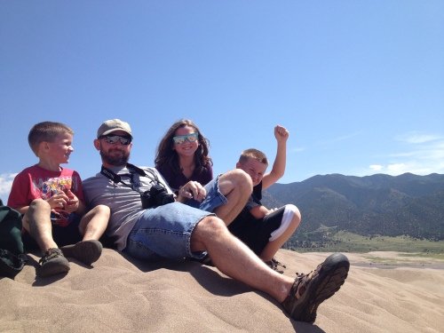 Mom finally made it up the dune to get a pic.