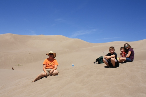 Great Sand Dunes National Park kicked my arse.  Photo by Charles.