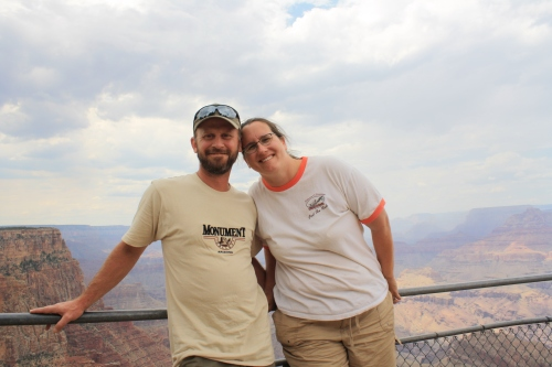Charles and I at the Grand Canyon.  Photo by our 10 year-old son, Conrad.