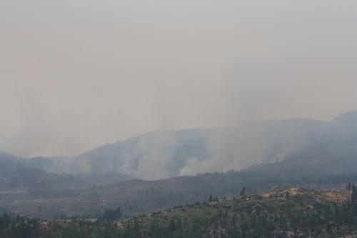 Yosemite burning