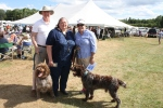 The grand-matriarch, Elaine Hunsicker of Fireside's Kennel, center.  Involved with the breed since the mid-1980s.  The dogs pictured are from her kennel.