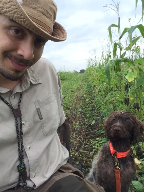 Charbel and Freyja taking a break from dove hunting for a selfie.