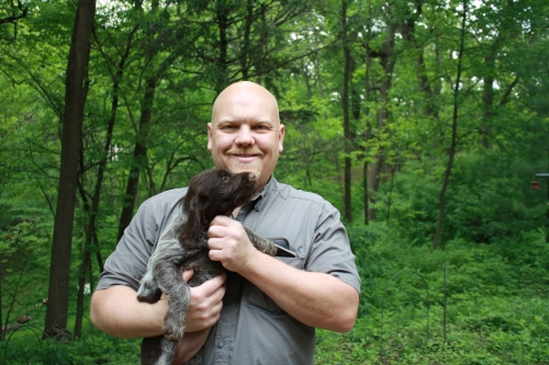 James took Isabel back to Sioux City, Iowa. He and his wife also have a 3 week old human baby!