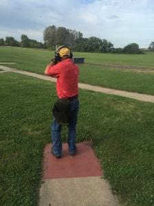 Charles shooting skeet