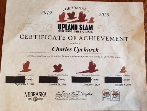 Charles Upchurch upland slam